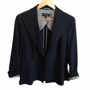 🔥HP🔥 Escada | navy virgin wool 2 button blazer